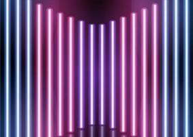 sfondo astratto barre al neon vettore