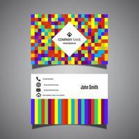 design colorato biglietto da visita pixel