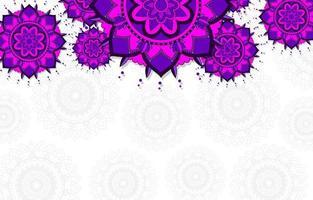 mandala viola, blu sullo sfondo