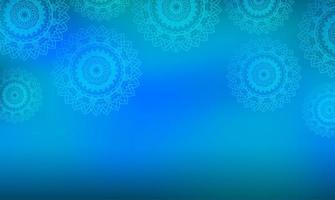 mandala blu sullo sfondo