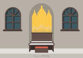 Illustrazione di vettore di organo tubo libero
