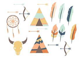 Tipi e icona di vettore della piuma