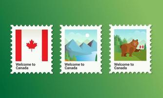 insieme del bollo di giorno del Canada