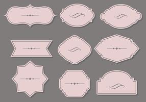 design piatto del cartiglio vettore