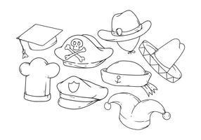 Vettore dell'icona del cappello del disegno della mano libera