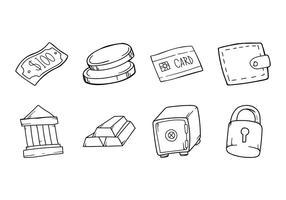 Icona di bussines di disegno a mano libera