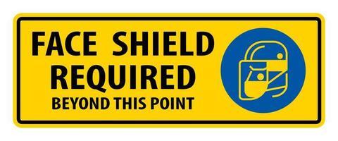 segno richiesto scudo viso vettore