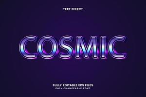 effetto di testo cosmico modificabile vettore