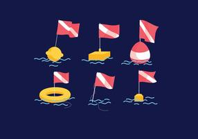 vettore di bandiera di immersione
