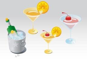 Vettori di cocktail di champagne