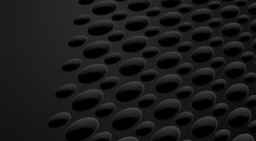 modello astratto liscio o sfondo di buchi e cerchi con ombre in nero e grigio
