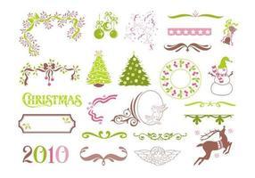 Pack di elementi vettoriali di Natale