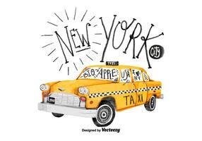 Vettore gratuito dell'acquerello del taxi di New York