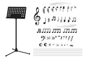 Nota di violino nero vettore