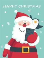 cartolina di Natale divertente e carina vettore