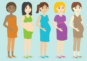 Personaggi in gravidanza vettore