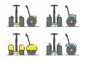Set di icone di Segway minimalista vettore