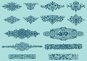 Ornamenti di design del libro vettore