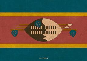 Bandiera del grunge dello Swaziland vettore