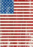 bandiera americana sgangherata verticale