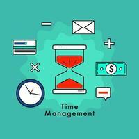 concetto di design piatto di gestione del tempo e di affari