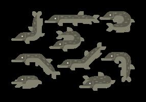 Icone di vettore del luccio