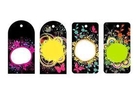 Confezione di tag colorati