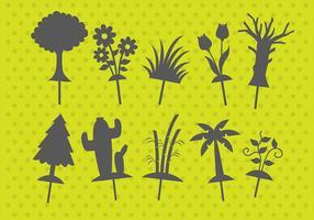 Burattini di ombre vegetali vettore