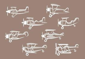 Icone biplano vettore