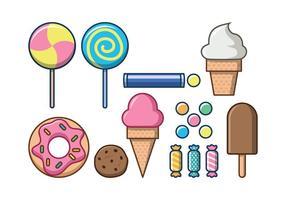 Icona di vettore di dolci alimenti gratis