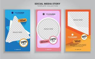 sfondi di design per banner di social media vettore