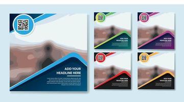 triangolo design social media impostato per il marketing digitale