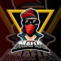 mafia gaming esports team logo vettore