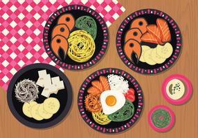 Illustrazione di piatti vettoriali