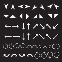 un set di icone freccia piatta