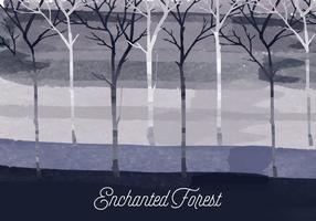 illustrazione vettoriale foresta incantata