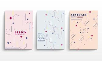 set copertina di forma geometrica memphis