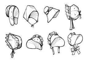 Vettori di cappello Bonnet