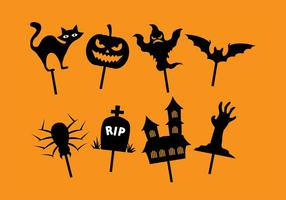 Burattino delle ombre di Halloween vettore