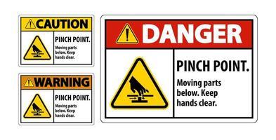 segno di pericolo pizzico punto vettore