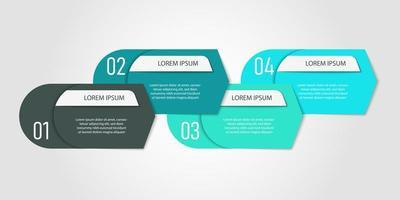 modello di infografica blu passo banner