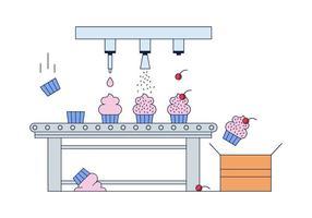 Vettore di fabbrica di Cupcake gratuito