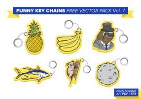 Portachiavi divertenti Free Vector Pack Vol. 7