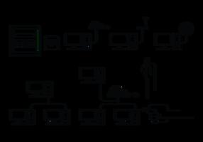 Rj45 icone vettoriali