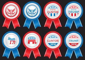 Distintivi elettorali vettore