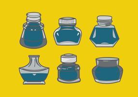 Vettore di bottiglia d'inchiostro