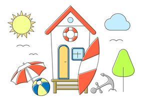 Icone gratis di estate vettore