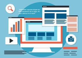 Elementi del sito Web vettore
