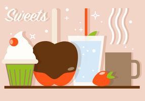 Illustrazione di vettore del caffè dolce gratis