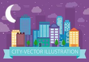 Illustrazione di vettore di paesaggio urbano gratis